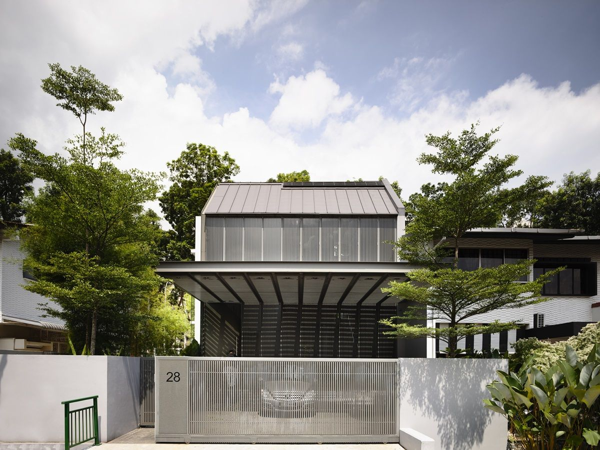 Modern semi-detached house in Singapore by HYLA Architects.   House ...