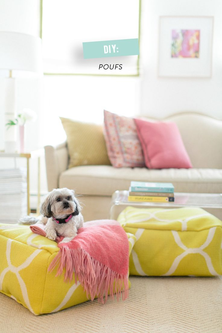 DIY Floor Poufs   Poufs, Craft and Diy sewing projects