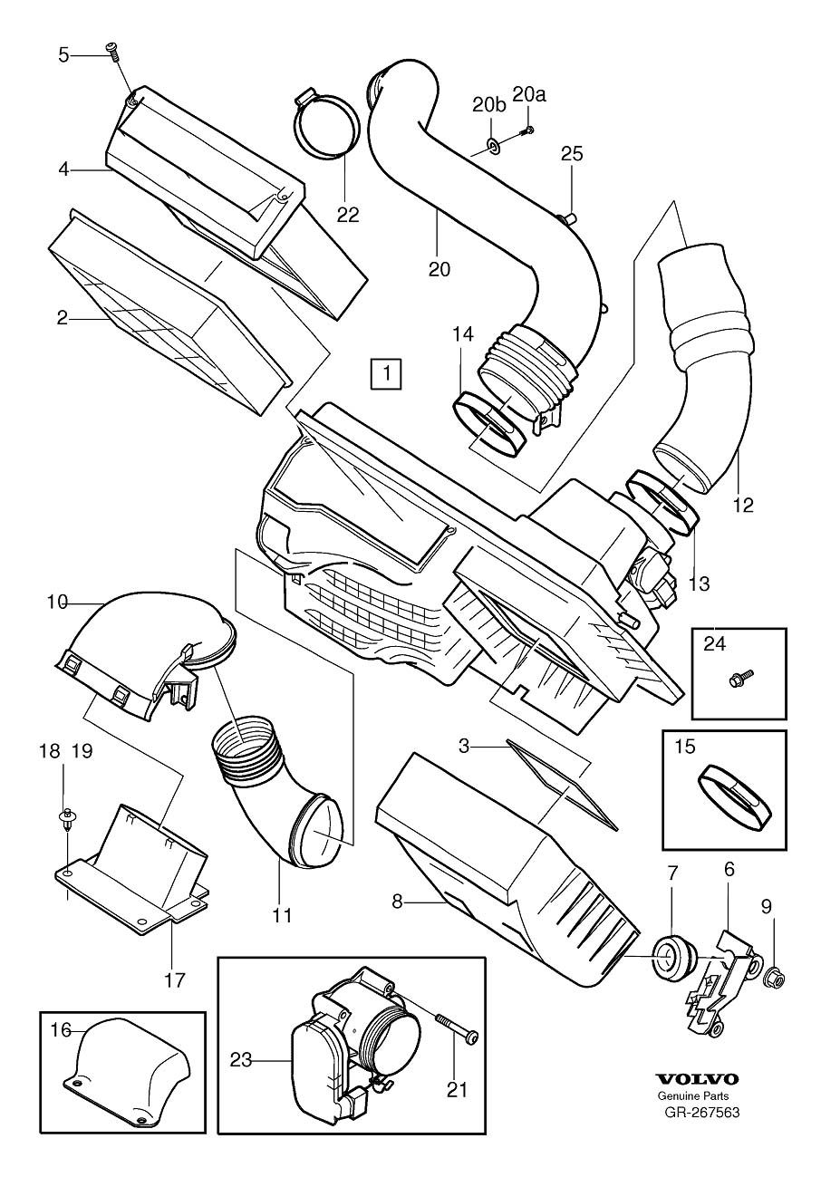 2005 volvo s40 t5 engine parts diagram projects to try pinterest rh pinterest com volvo xc90 fuse box location 2006 volvo xc90 starter location [ 906 x 1299 Pixel ]