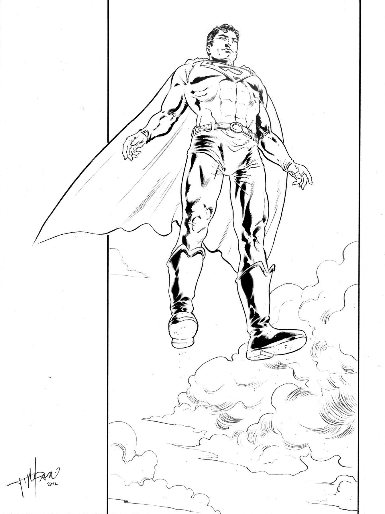 Superman pin-up