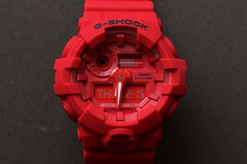 official photos b9487 1a34e Live Photos] G-Shock GA-735C-4 — 35 Anniversary RED OUT ...