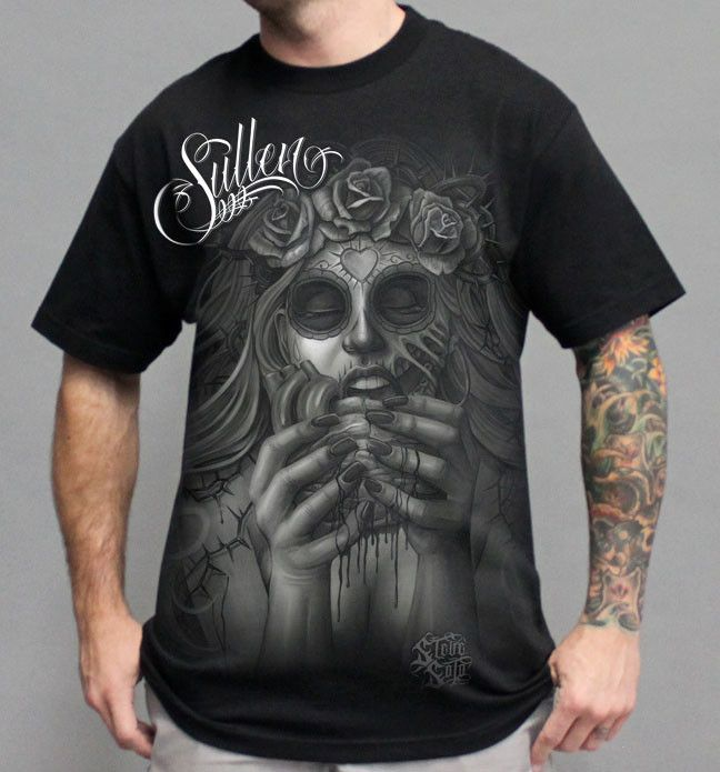 sullen morbid sugar skull heart tattoo tshirt sullen art collective pinterest tattoo. Black Bedroom Furniture Sets. Home Design Ideas