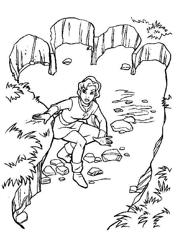The Magic Sword: Quest for Camelot Coloring pages for kids. Printable. Online Coloring. 7