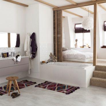 pour ou contre la salle de bain ouverte sur la chambre leroy merlin merlin et leroy. Black Bedroom Furniture Sets. Home Design Ideas