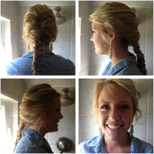 French braids are perfect for casual days and the summer heat.
