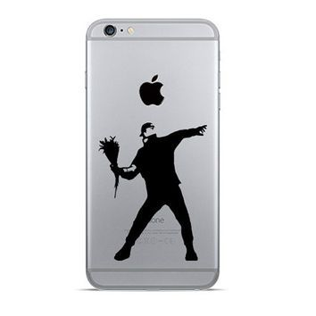Banksy iphone 6 decals the flower thrower iphone 7 plus sticker rage decal