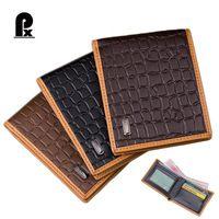 designer leather wallet men wallets famous Brand Alligator male short Card Holder pocket casual men's wallet carteira Cuzdan PX