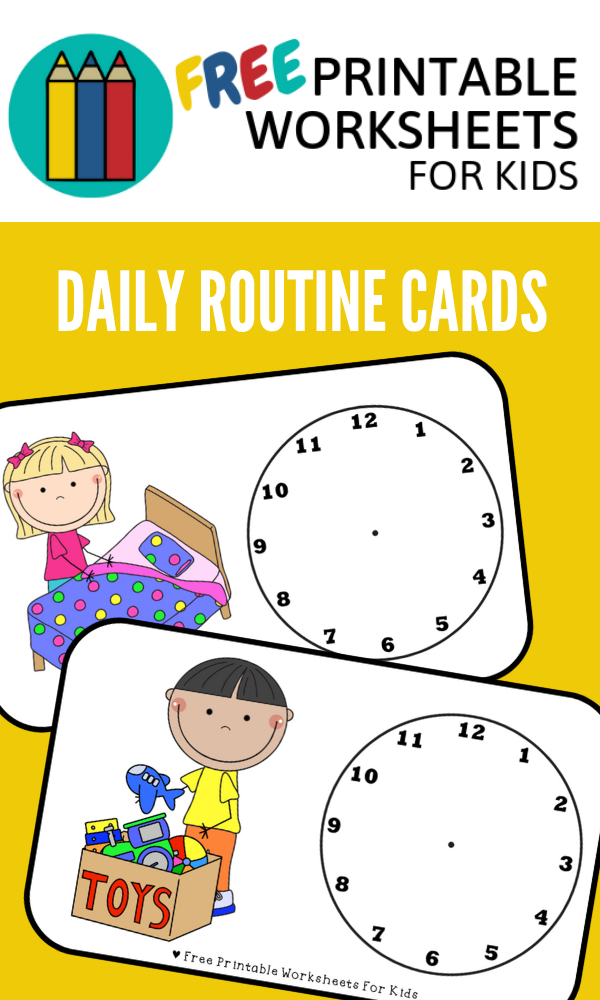 Daily Routine Cards | Free Printable Worksheets For Kids ...