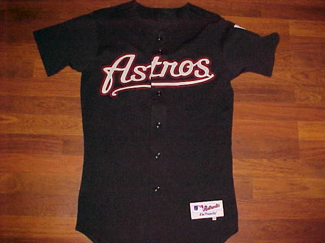 82b0a524a8646 Majestic MLB AL West Houston Astros 2000 Inaugural Black Scripted Jersey 40   Majestic  HoustonAstros