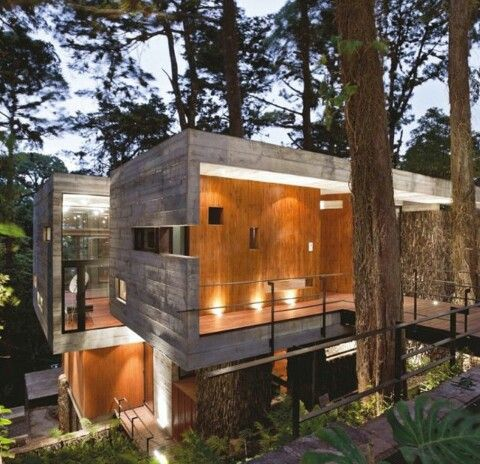 Hormigon visto.  Arquitectura moderna.