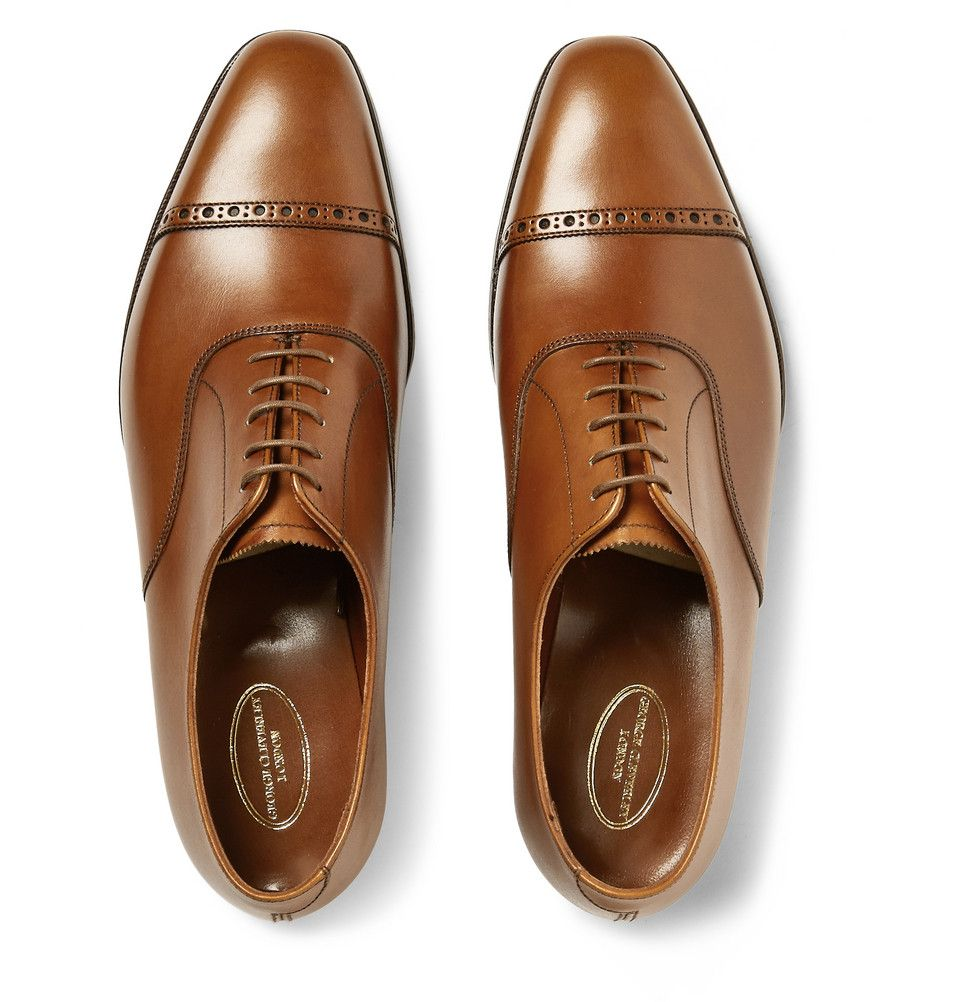 George Cleverley - Charles Leather Oxford Brogues | MR PORTER