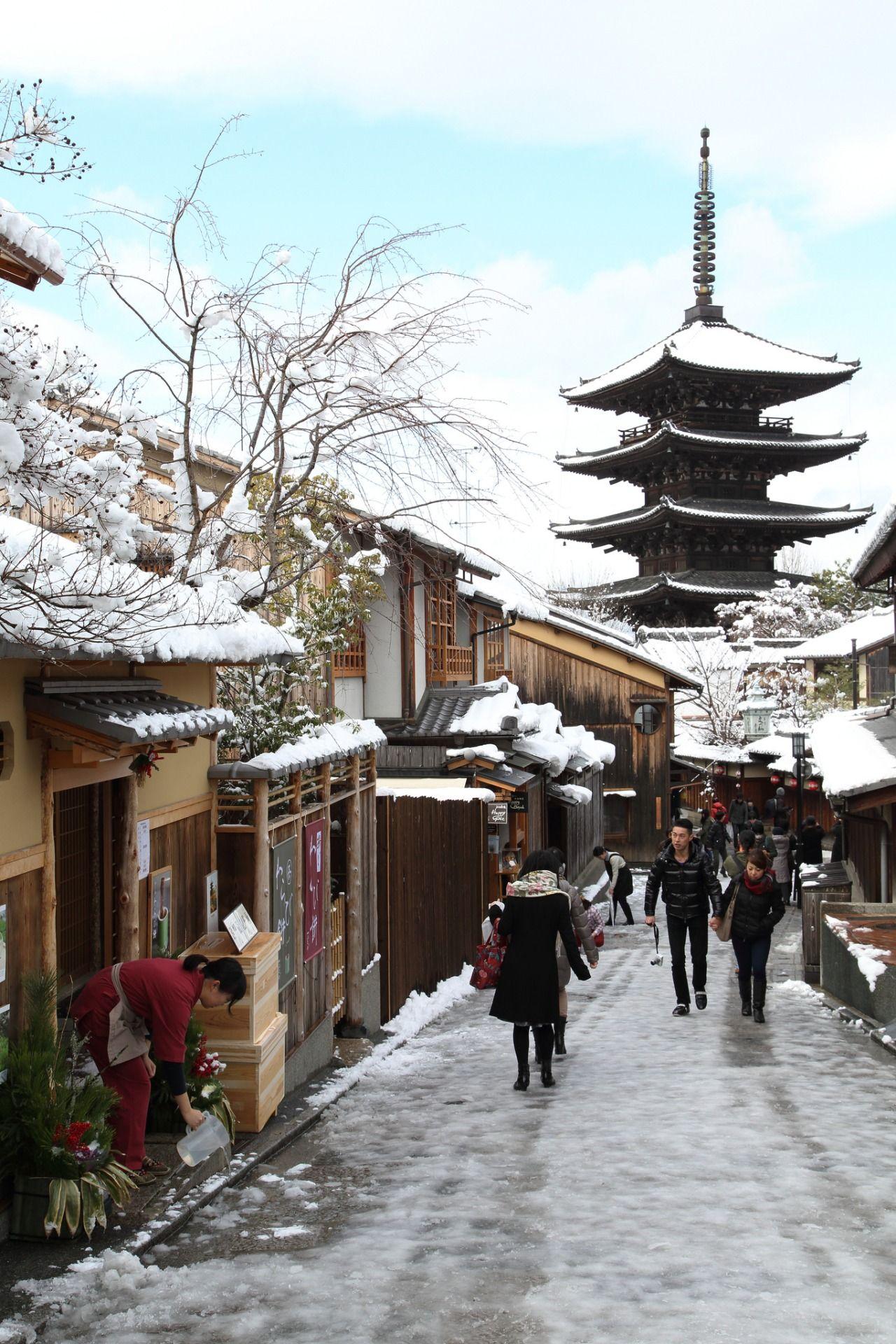 kyoto in winter by teruhide tomori japan pinterest. Black Bedroom Furniture Sets. Home Design Ideas