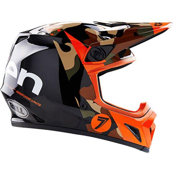 Bell 2017 Seven Mx 9 Soldier Orange Mips Helmet Motocross Helmets Helmet Motocross