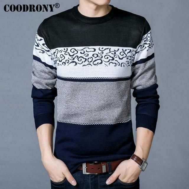 COODRONY Sweater Men 2017 Autumn Spring New Arrival Brand Clothing O-Neck  Sweater Shirt Men 1114a6f4fa