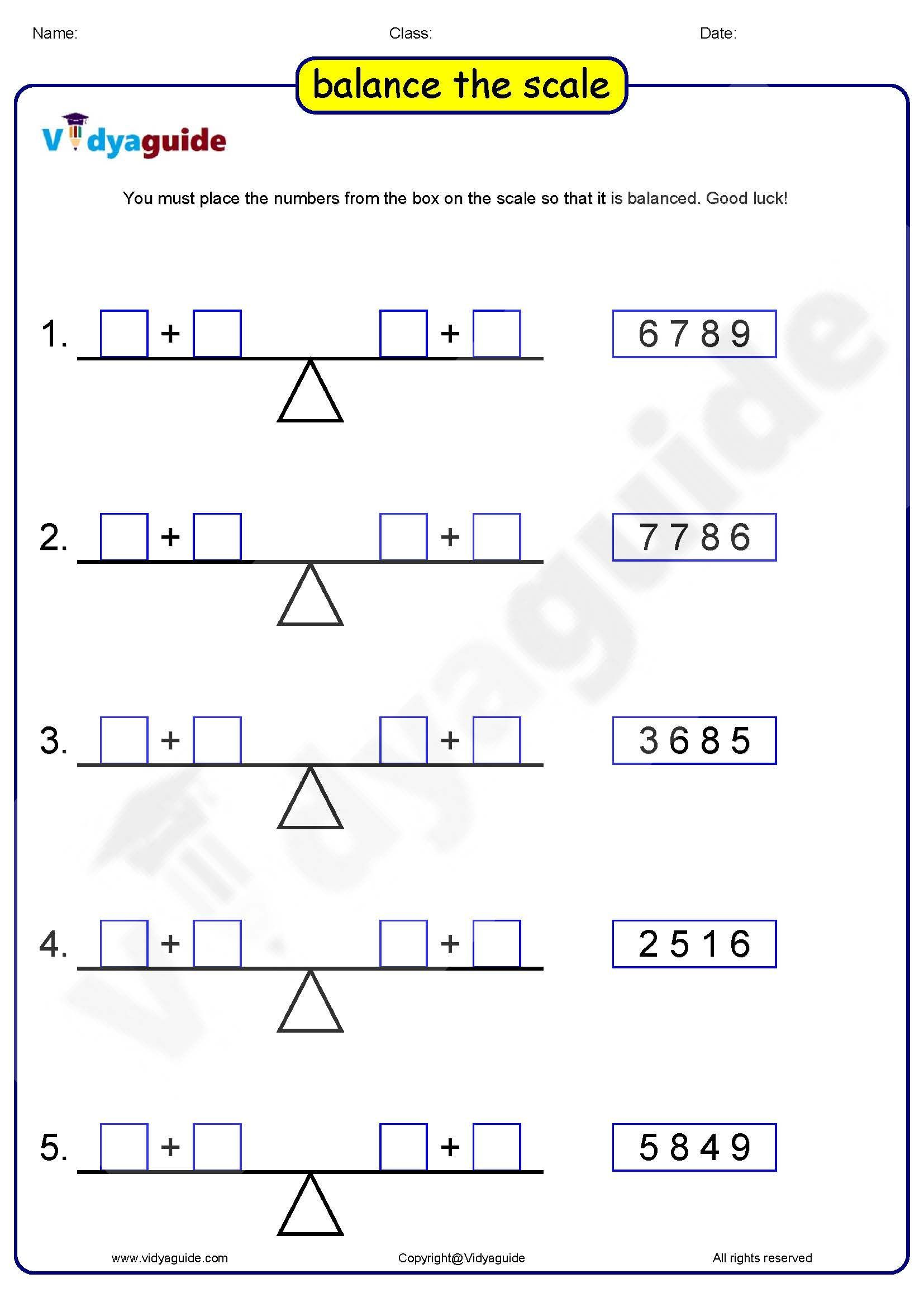 Balance The Scale Worksheet Worksheets Are A Crucial Portion Of Gaining Knowledge Of English Infants Study In Differe In 2021 Math Games For Kids Maths Puzzles Math [ 2339 x 1654 Pixel ]