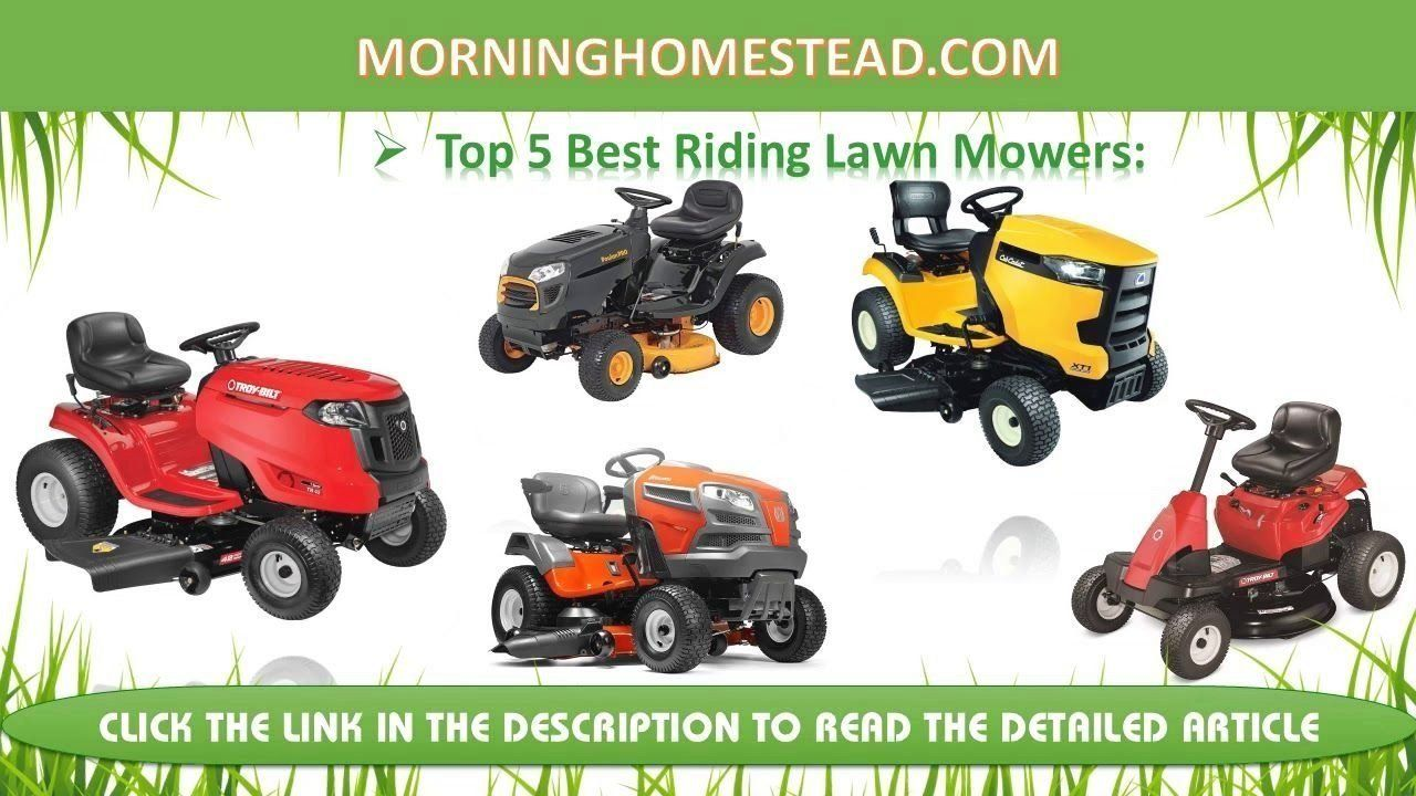 Top 5 Best Riding Lawn Mowers for The Money [2019 Picks