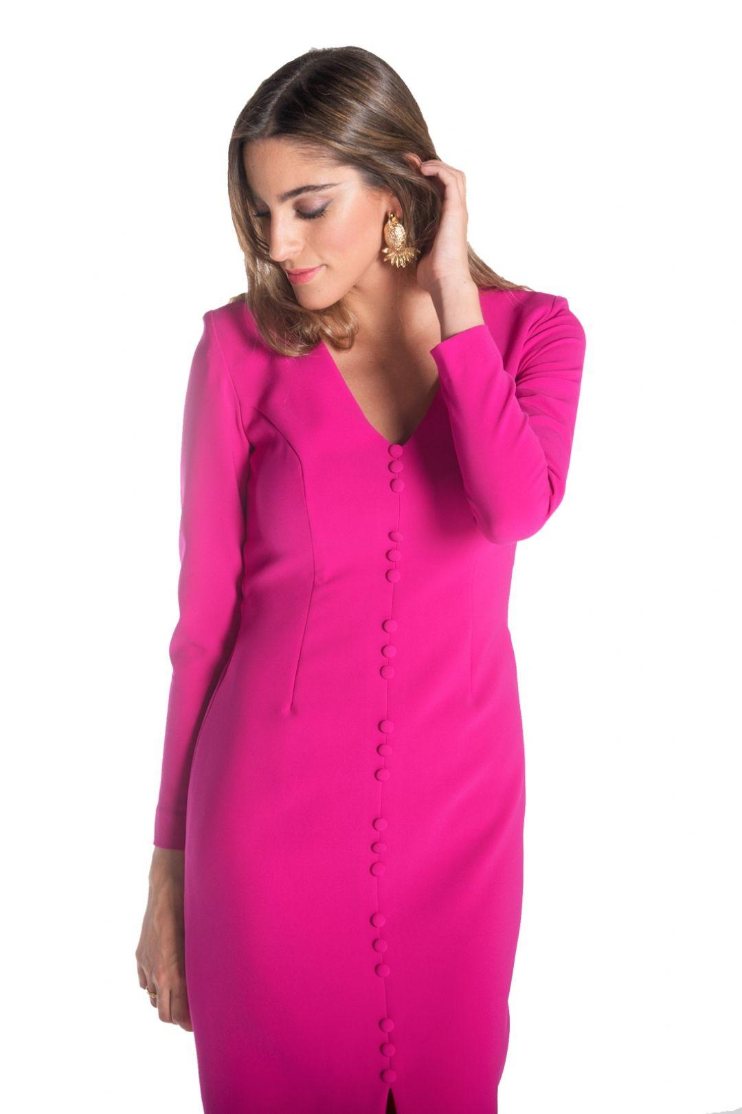 Vestido Gales Magenta - Alquiler de Vestidos - La Más Mona | Bodas ...