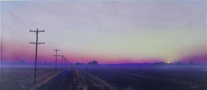 Lavender Fog by David Hunt- Love his use of light