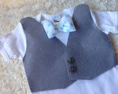 Vest and Bowtie onesie for your handsome little man.