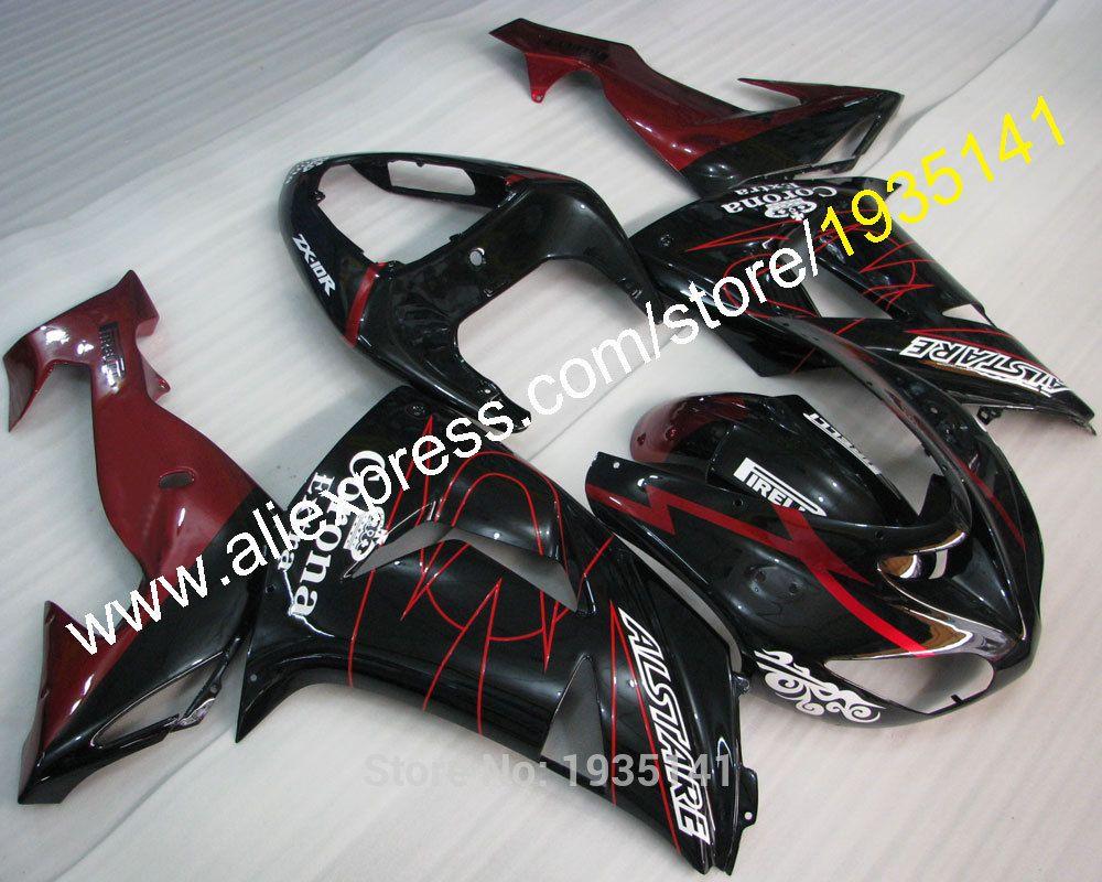 Hot Sales,Sportbike Cowling For Kawasaki NINJA ZX10R 06 07