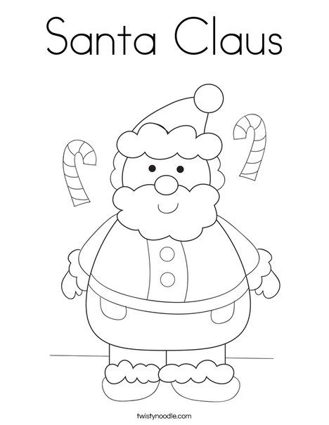 santa claus coloring page twisty noodle