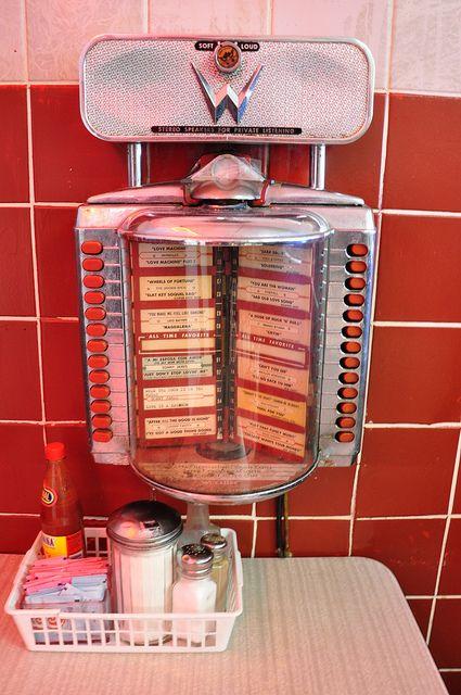 Elliston Place Soda Shop Nashville TN Table Top Juke Box