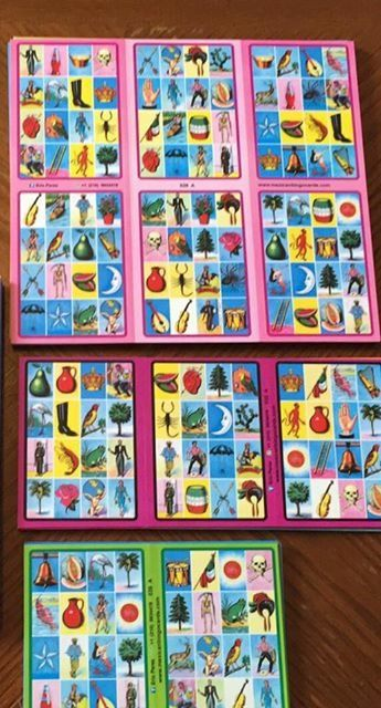 Cartas Loteria Pegadas En 4 Lotería Mexicana Loteria Mexicana Cartas Cartas De Loteria