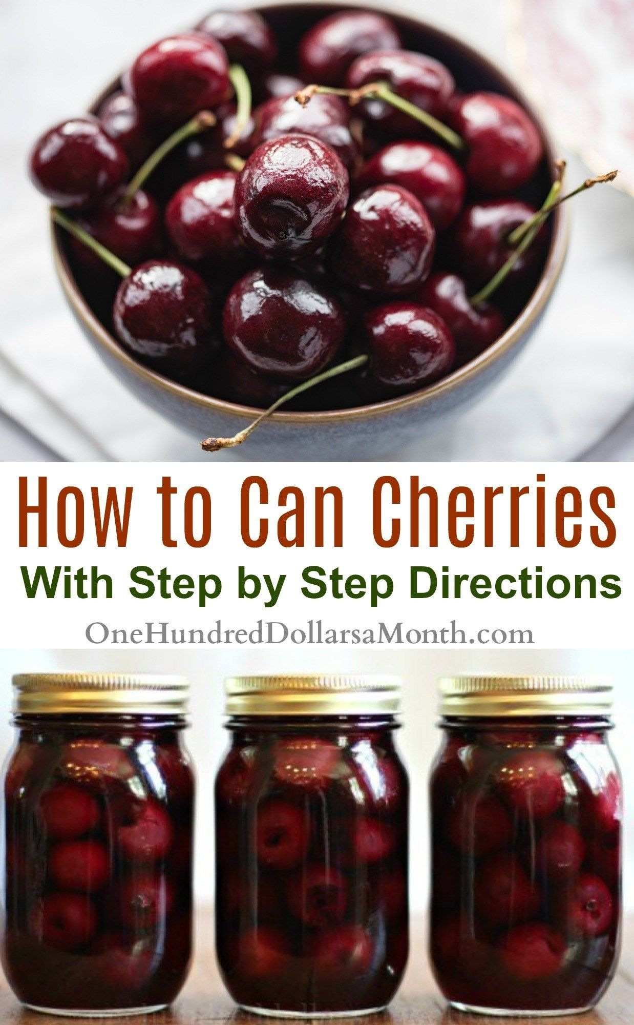 Canning 101 How to Can Cherries Cherry recipes canning