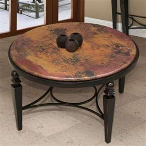 Copper Round Coffee Table Will A Round Coffee Table Make The Living Room Area More Spacious