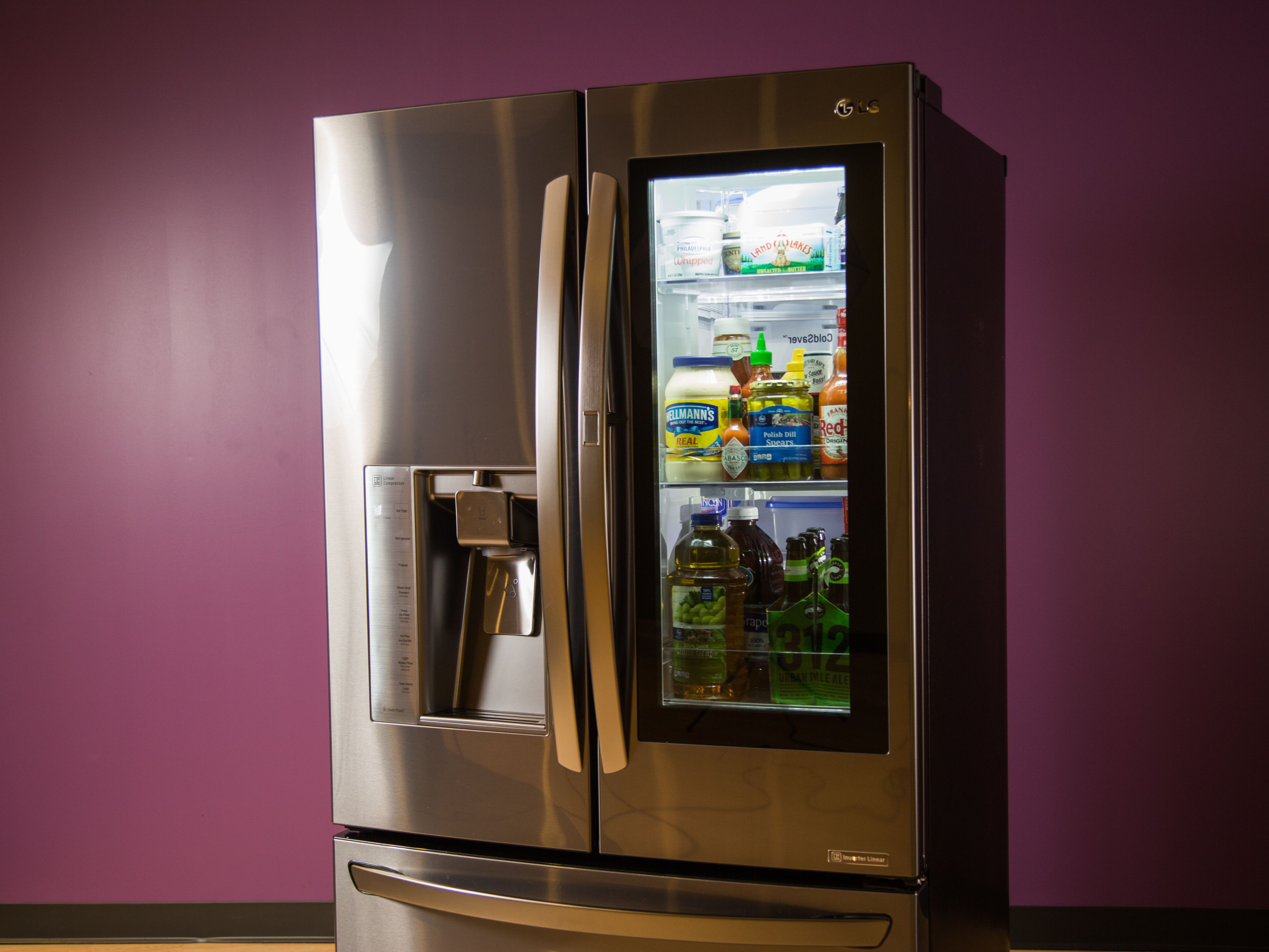 Lg Adds A Tablet And Alexa To Its See Through Smart Fridge