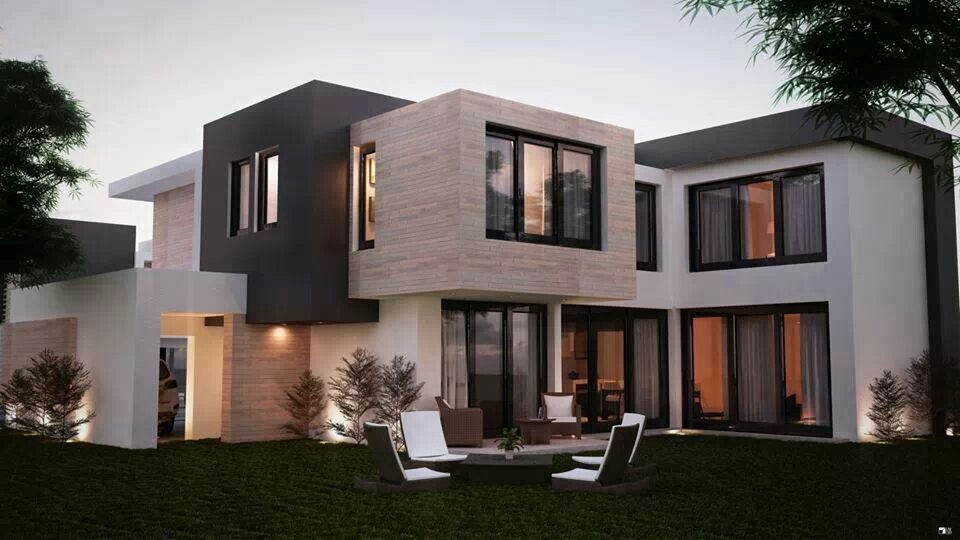 Black Window Frames Stone Grey And White Render Cube