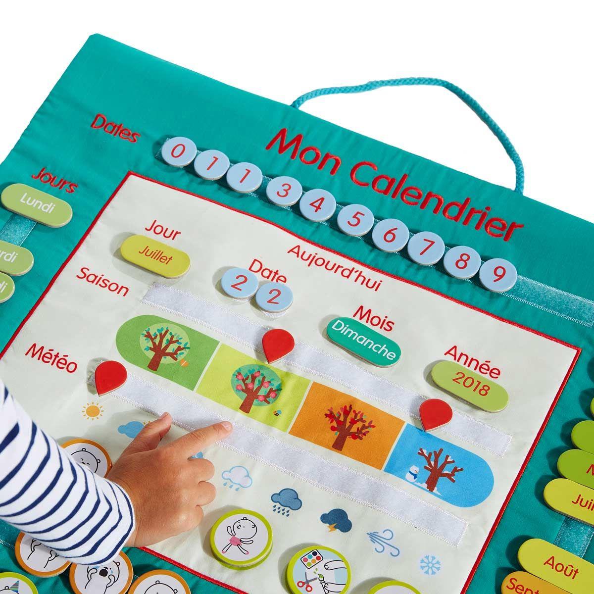 Calendrier en tissu Educabul création Oxybul | Cadeau enfant 4 ans, Oxybul et Calendrier enfant