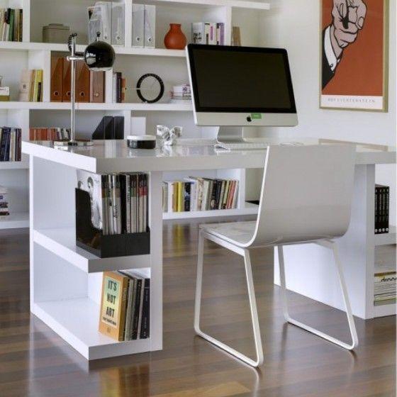 Soldes Bureau Atylia achat Bureau Blanc UNIT avec Rangements