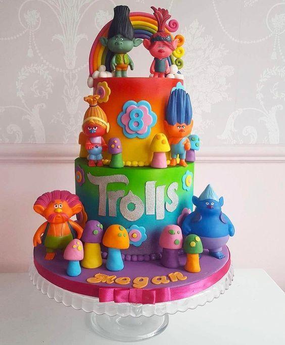 Walmart Dreamworks Trolls Birthday Cake Cakes 19 Likes 2 Comments