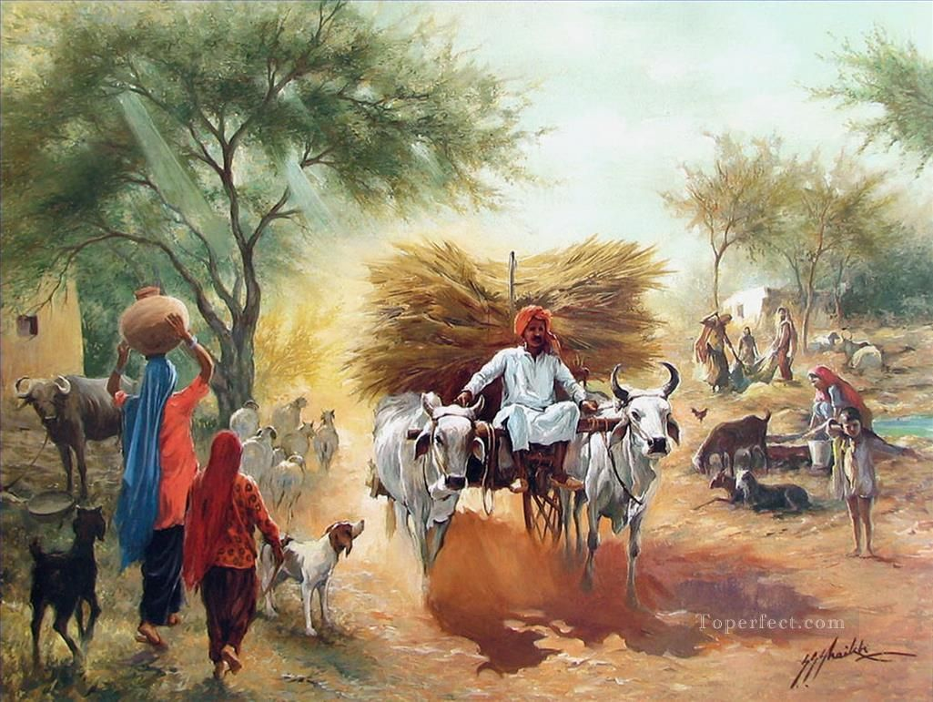 Harvest Season from India Indian art paintings, Indian