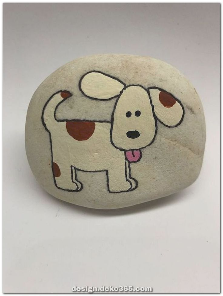 Photo of Unique and creative great DIY projects painted stone animal dogs for summer ideas – crafts