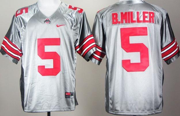 buy online b96c0 0ff6f Ohio State Buckeyes 5# Braxton Miller Grey College Football ...