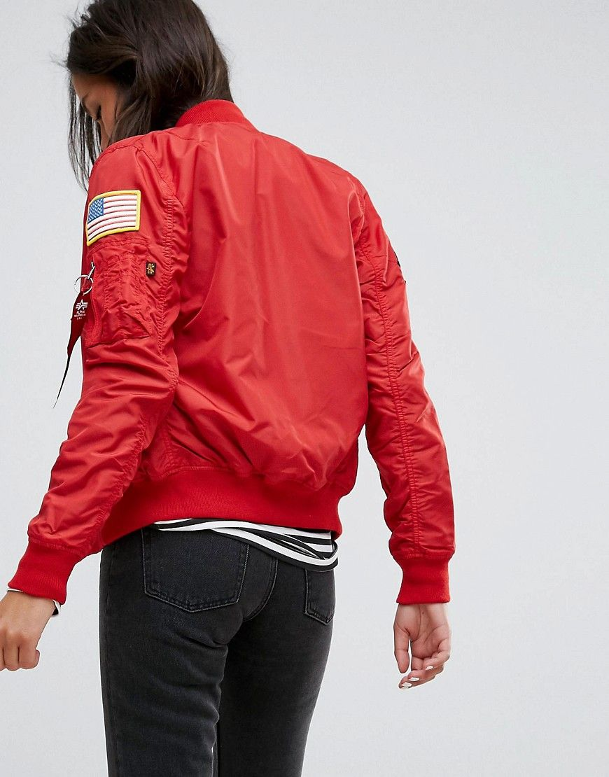 a21995c40 Alpha Industries MA-1 TT Nasa Reversible Bomber Jacket - Red