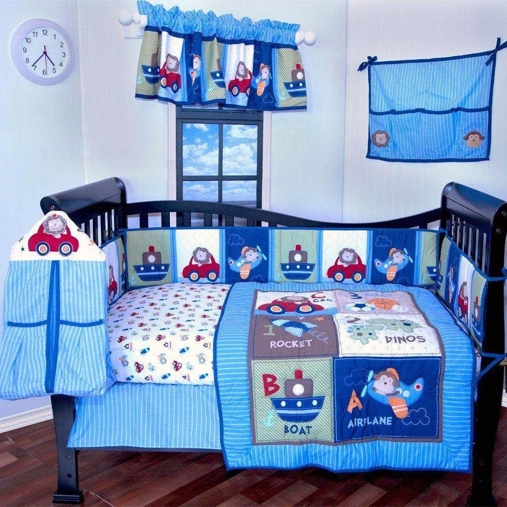 Baby Boy Bedroom Set In 2020 Baby Boy Crib Bedding Sets