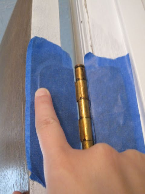 How To Paint A Door Without Taking It Off The Hinges