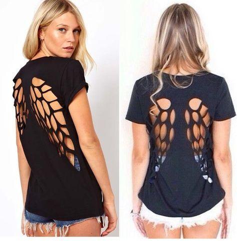 Cómo modificar una camiseta básica | Crafty fashion | Pinterest ...