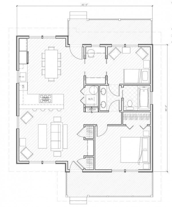 Small House Plans this one is almost perfect to build on to my