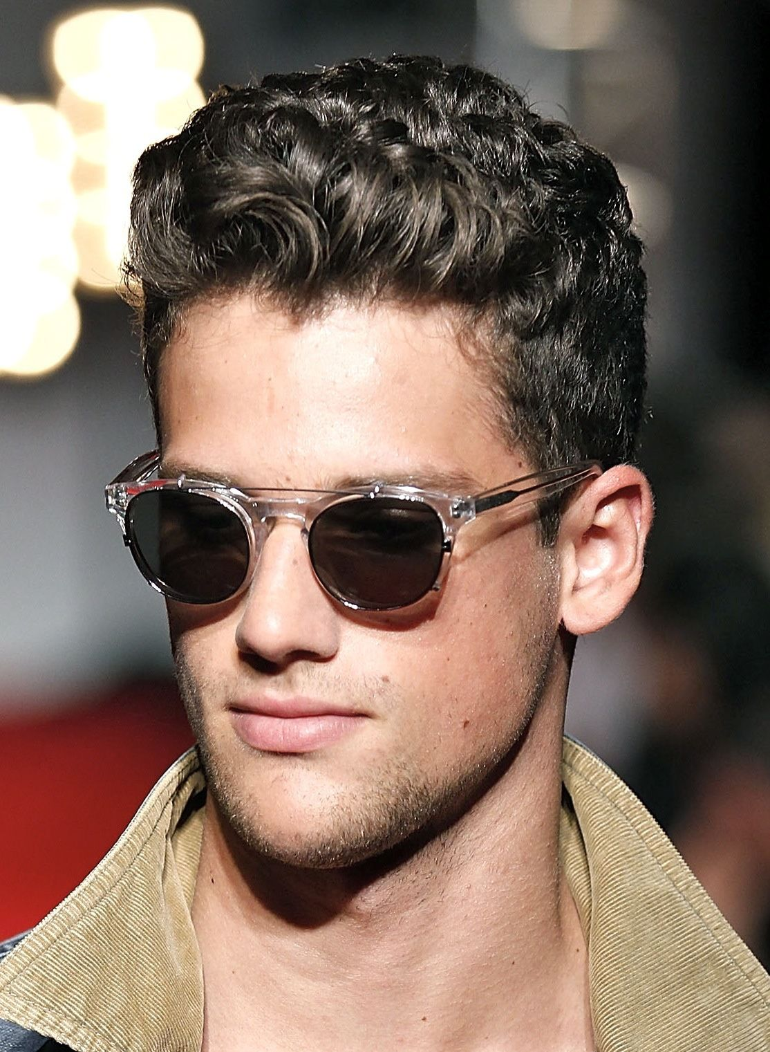 Sensational 1000 Images About Curly Hairstyles On Pinterest Men Curly Short Hairstyles Gunalazisus