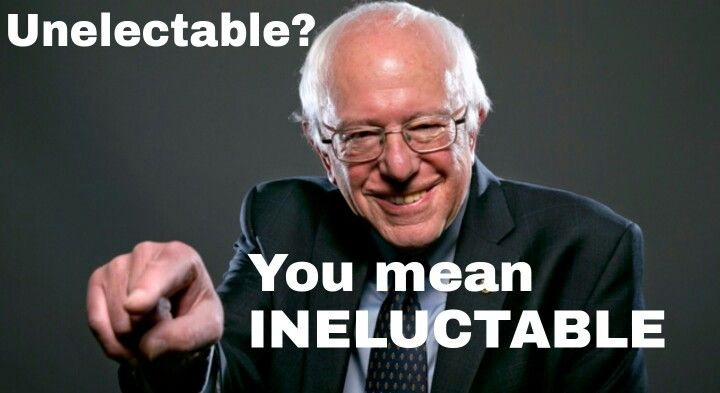 Unelectable You Mean Ineluctable Not In Your Vocabulary Google It Bernie Sanders 2016 Bernie Sanders 2016 Bernie Sanders Vocabulary