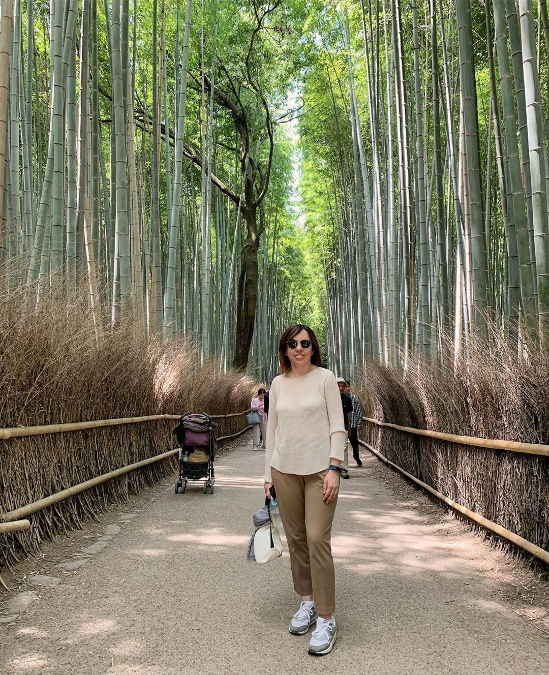 Blending into the environment. #arashimaya #tenryuji #arashiyamabambooforest #bambooforest #bamboogrove #kyoto #japan #e...