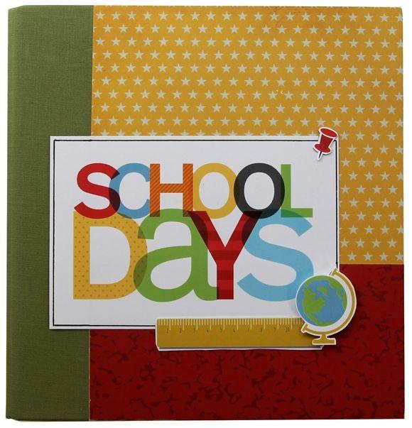 School, Scrapbook Cover, Binder