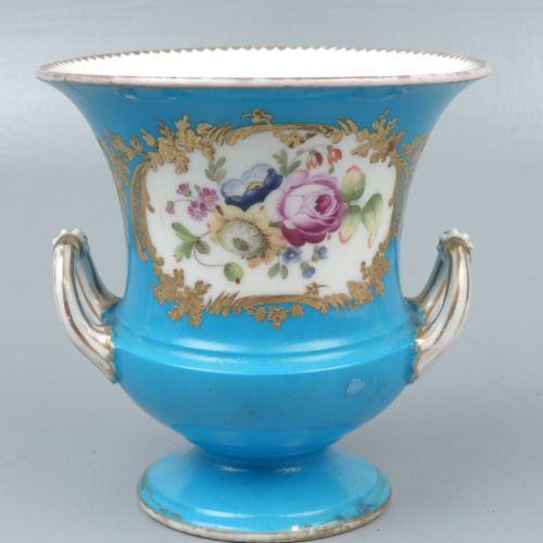 Celeste Blue Porcelain Urn - Possibly 18th Century Sevres - For Restoration