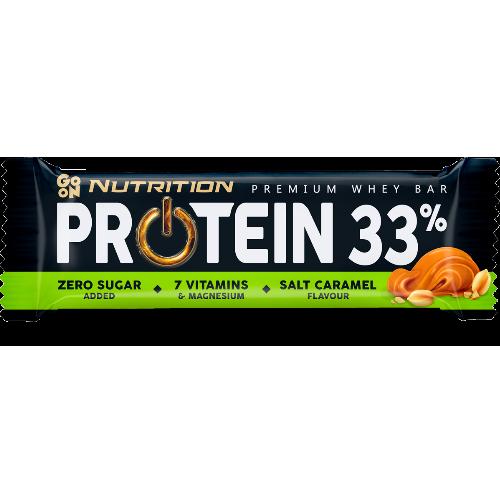 Baton Go On Protein 33 Slony Karmel Sante 50g Protein Salted Caramel Protein Bars