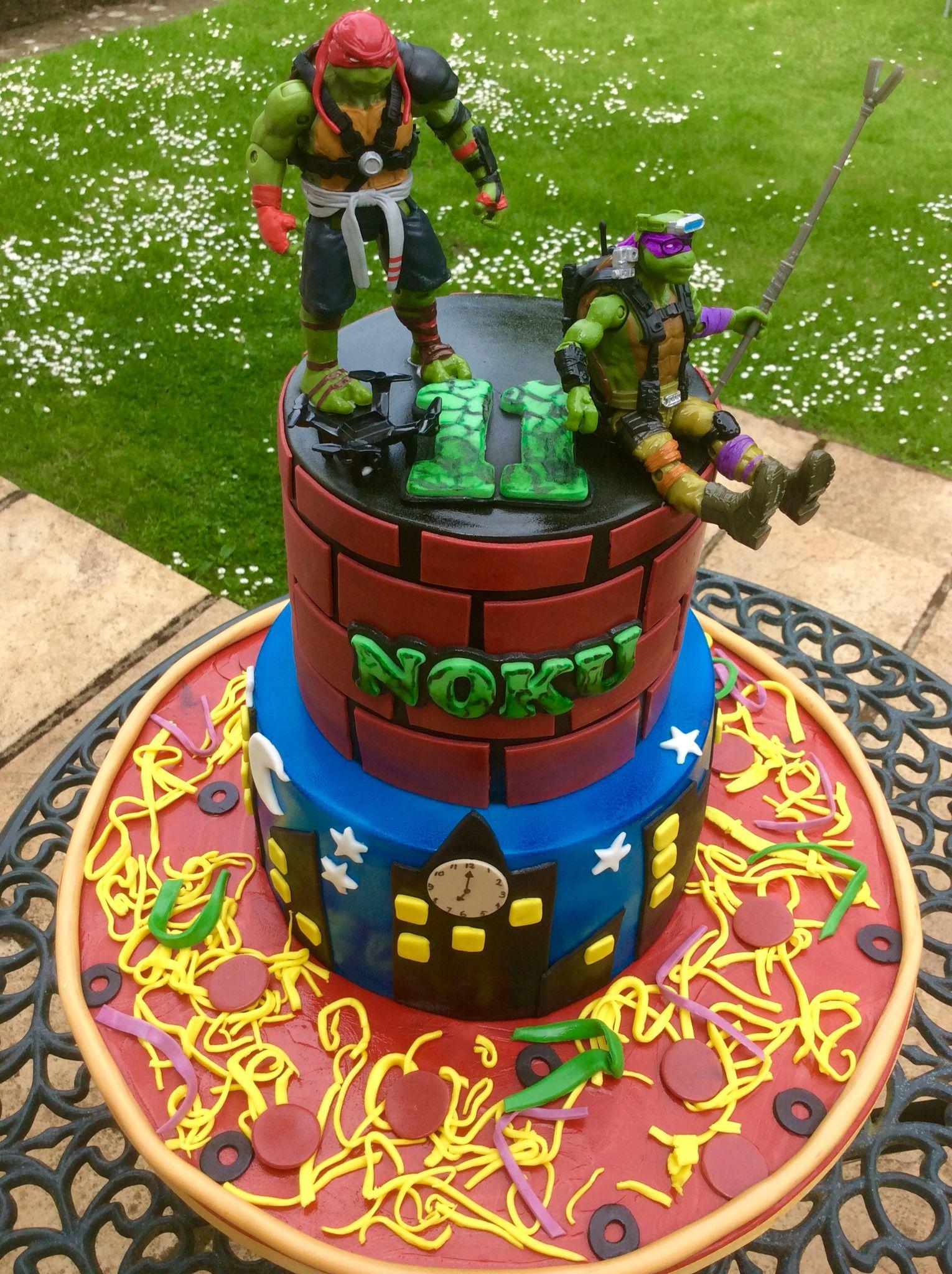 Teenage Mutant Ninja Turtles Cake Ninja turtle cake