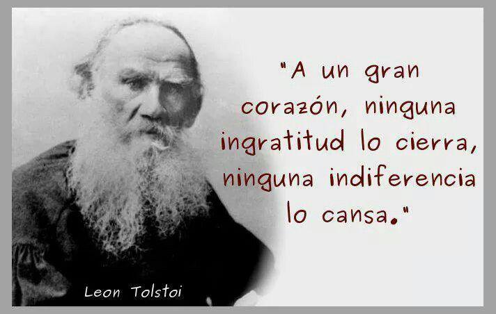 Amor Frases Poemas Citas Leon Tolston A Un Gran Corazón